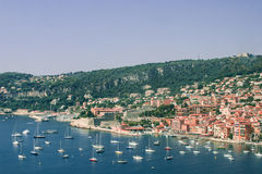 Villefranche on the Cote d'Azur stock images