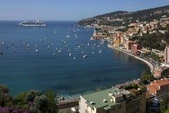 Villefranche - Cruise Ship - French Riviera stock photos
