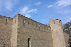 Villefranche-de-Conflent fortaleza Fotografia de Stock