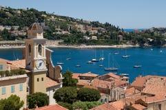 villefranche de sur de mer de la France Images stock