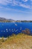 Villefranche linii brzegowej i nadmorski widok Zdjęcia Royalty Free