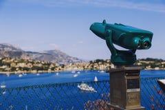 Villefranche linii brzegowej i nadmorski widok Obraz Royalty Free