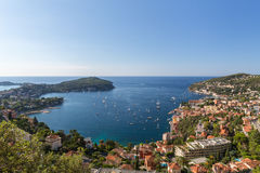 Villefranche near Nice in France stock image