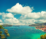 Villefranche, Provence, french riviera, Mediterranean Sea Royalty Free Stock Images