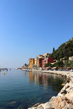 Villefranche Shore Royalty Free Stock Photos