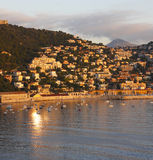 Villefranche at sunset Stock Images