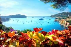 Villefranche-sur-Mer, υπόστεγο δ Azur, γαλλικό Riviera, Γαλλία στοκ εικόνες