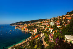 Villefranche sur mer. Beautiful village of villefranche sur mer on the french riviera france  cote d'azur Stock Images
