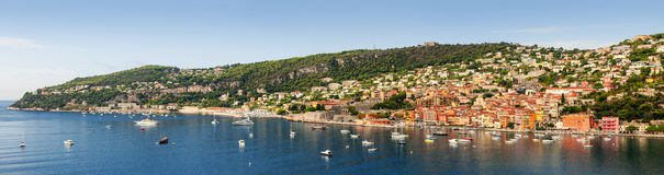 Villefranche-sur-Mer and Cap de Nice on French Riviera Royalty Free Stock Image