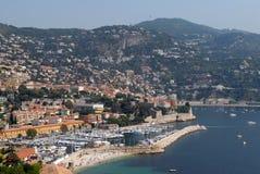 Villefranche-sur-Mer dans les sud de la France photographie stock libre de droits