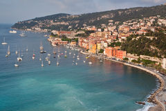 Villefranche-sur-Mer en el d'Azur del corral Foto de archivo libre de regalías