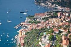 Villefranche-sur-Mer en el d'Azur del corral Imagen de archivo libre de regalías