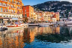 Villefranche sur Mer, France. Seaside town on the French Riviera or Côte d `Azur stock photo