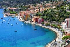 Villefranche-sur-Mer in Franse Riviera, Frankrijk Stock Foto