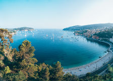 Villefranche sur mer, französischer Riviera Stockbild