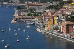 Villefranche-sur-Mer - French Riviera. The resort of Villefranche-sur-Mer near Nice on the French Riviera on the Cote dAzur in the South of France Stock Image