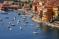 Villefranche-sur-Mer harbour, Cote D'Azur, South o Stock Images