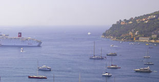 Villefranche-sur-Mer harbour, Cote D'Azur, South o Royalty Free Stock Images