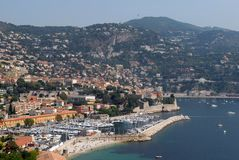 Villefranche sur Mer in het zuiden van Frankrijk royalty-vrije stock fotografie