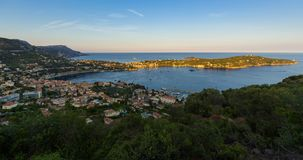 Villefranche-sur-Mer, nakrętka w lecie Cote d ` Azur, Francuski Riviera, Alpes Maritimes, Francja zbiory wideo
