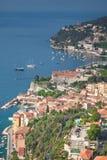 Villefranche-sur-Mer op de Kooi d'Azur stock afbeeldingen