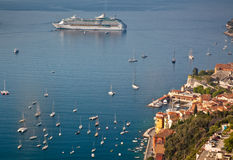 Villefranche-sur-Mer op de Kooi d'Azur Royalty-vrije Stock Fotografie