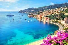 Villefranche-sur-Mer skjul D Azur, franska Riviera, Frankrike arkivfoto