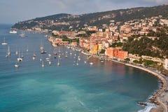 Villefranche-sur-Mer sur Cote d'Azur Photo libre de droits