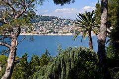 Villefranche-sur-Mer from the Tip of Cap Ferrat Royalty Free Stock Images