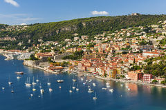 Villefranche-sur-Mer view on French Riviera Royalty Free Stock Photo