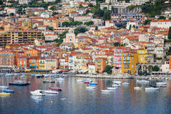 Villefranche-sur-Mer view on French Riviera Royalty Free Stock Images