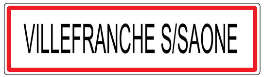 Villefranche sur Saone city traffic sign illustration in France Royalty Free Stock Photos