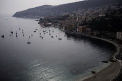 Villefranche View from Corniche Royalty Free Stock Photography