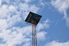 Villege broadcast tower with sky background Royalty Free Stock Photos