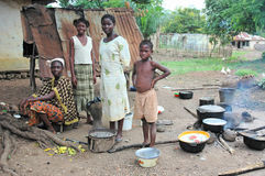 Villege, Liberia, West Africa Stock Photos