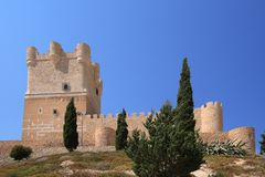 Villena Castle in Costa Blanca Royalty Free Stock Photography