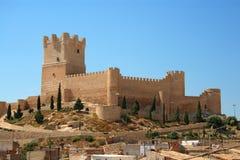 Villena Castle in Costa Blanca Alicante Spain. Royalty Free Stock Images