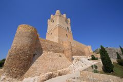 Villena Castle in Costa Blanca Alicante Spain. Stock Photography