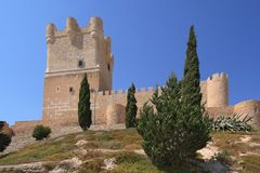 Villena Castle in Costa Blanca Alicante Spain. Royalty Free Stock Photo