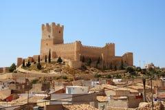 Villena kasztel w Costa Blanca Alicante Hiszpania. Obraz Stock