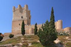 Villena kasztel w Costa Blanca Alicante Hiszpania. Zdjęcie Royalty Free
