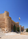 Villena kasztel w Costa Blanca Alicante Hiszpania. Obraz Royalty Free