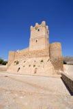 Villena kasztel w Costa Blanca Alicante Hiszpania. Zdjęcia Stock