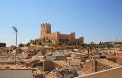 Villena kasztel w Costa Blanca Alicante Hiszpania. Fotografia Stock