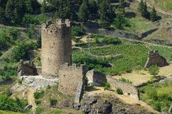 Villeneuve Castello di Chatel-Argent Royalty Free Stock Photo