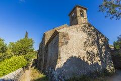 Villerouge Termenes,法国教会  免版税库存照片