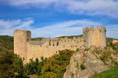 Villerouge-Termenes Castle Cathar in France Royalty Free Stock Photography