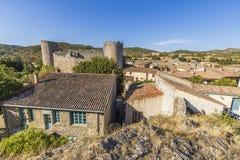 Villerouge Termenes, Frankrike arkivfoto