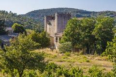 Villerouge Termenes, Frankrike arkivbilder