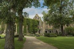 Villers修道院,比利时 库存照片